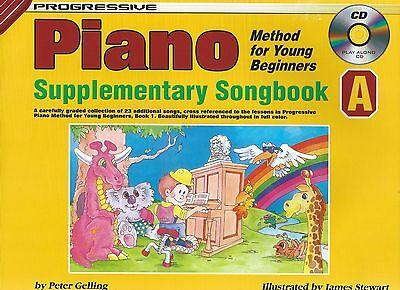 Progressive Piano for Young Beginners Supplementary Songbook A w/CD