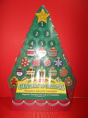 Melissa & Doug Countdown To Christmas Wooden ADVENT CALENDAR Magnetic Ornaments