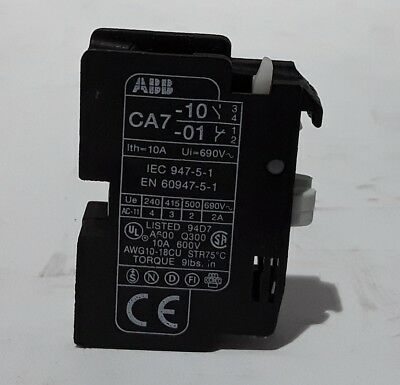 ABB CA7-10 Auxiliary Contact - New Surplus Open