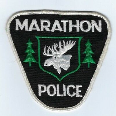 Marathon ON Ontario CANADA Police patch - NEW!