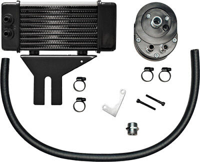 Jagg Oil Coolers 750-2580 Horizontal 10 Row Oil Cooler Chrome Low Mount