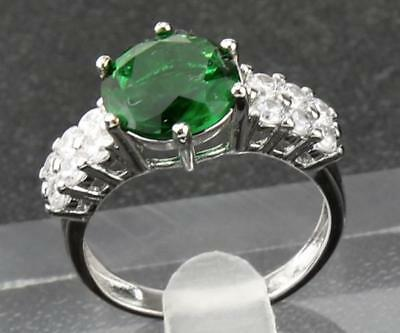 1.95 ct  Natural Emerald  14KT Solid White  Gold Ladies Antique  Rings 8#