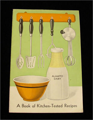Vintage ALAMITO DAIRY Kitchen Tested Recipes Booklet w/34 pages - Omaha Nebraka