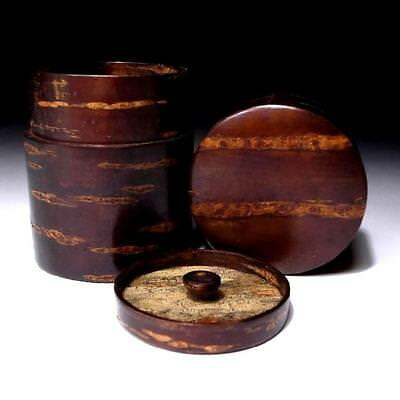 VC1: Japanese High-class Cherry Tree Bark Wooden Tea Caddy, Made in Kakunodate