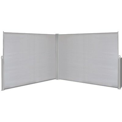 1.8x6m Retractable Side Awning Privacy Screen Shade Patio Garden Terrace Grey