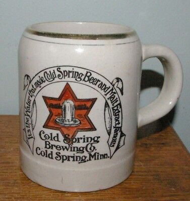 Pre Prohibition Cold Spring Brewing Company Brewery Minnesota Stoneware Beer Mug