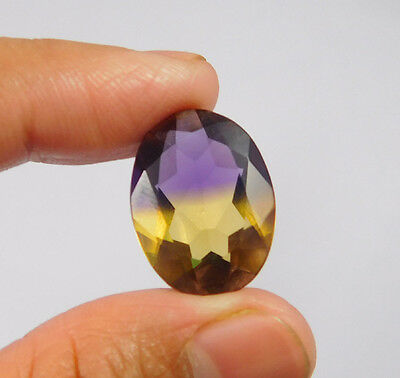 12 Cts. Treated Ametrine Faceted Cut Lovely Oval Shape Gemstone SNG1905