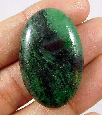 50 Cts. NATURAL STUNNING RUBY ZOISITE LOOSE CAB GEMSTONE (AQ224)