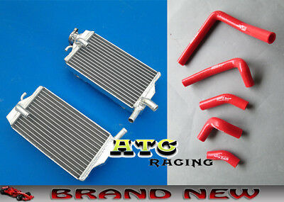 Aluminum Radiator and silicone hose for Honda CR250 CR250R 02 03 04 02-04 red