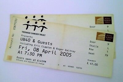 RARE UB40 Memorabilia Unused Tickets Stubs Royal Albert Hall 08/04/05