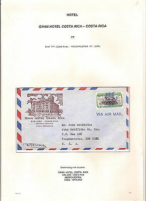 Letter send from GRAN Hotel COSTA RICA to POUGHKEEPSIE , NEW YORK USA ; see scan