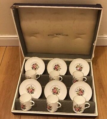 Royal Worcester Coffee Can Set