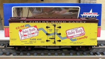 Usa Trains (R-16192)  Baby Ruth Gum  Wooden Billboard Reefer - Brand New In Box