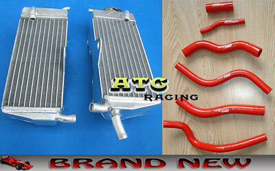 Aluminum Radiator and hose for Honda CR125 CR125R 1990-1997 91 92 93 94 95 96