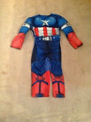 Captain America 3-4 Boys Childrens Avengers DressingUp Costumes Used fancy dress