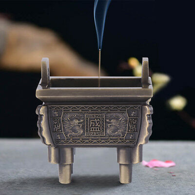 Buddhist Incense Burner Chinese Mini Tripod Stick Incense Holder Craft Decor coi