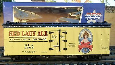 Usa Trains (R-16229)  Red Lady Ale  Wooden Billboard Reefer - Brand New In Box