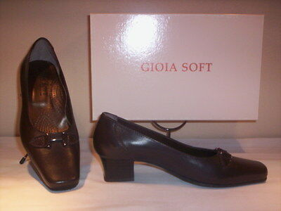 Shoes comfortable court Gioia Soft woman classic elegant brown 36