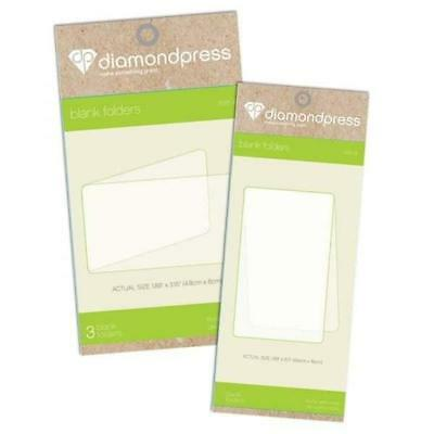 Crafters Companion Diamond Press Blank Folder Refill Pack of 3 A or B