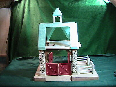 Vintage Little Tikes STABLE Horse Barn Dollhouse with Cupola