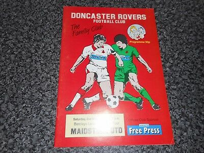 DONCASTER ROVERS  v  MAIDSTONE UNITED ( LAST AWAY GAME IN FOOTBALL LEAGUE ) 1992