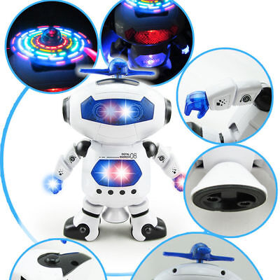 Electronic Walking Dancing Smart Space Robot Astronaut Kid Music Light White Toy