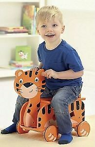 Carousel Wooden Tiger Racer Ride-On Toy