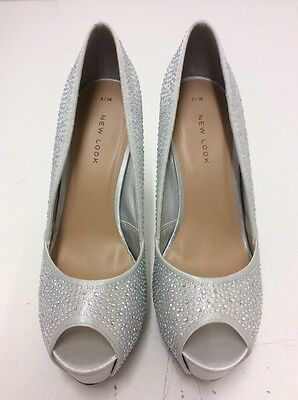 D124 Ladies New Look Heels Size 5 New Without Box