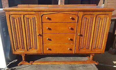 Gorgeous Vintage Oak Sideboard with 4 Drawers & 2 Cupboards from A.J Abraham
