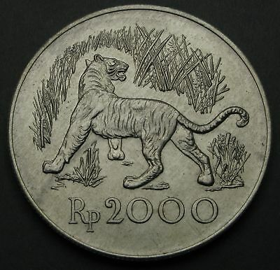 INDONESIA 2000 Rupiah 1974 - Silver - Conservation - aUNC - 496