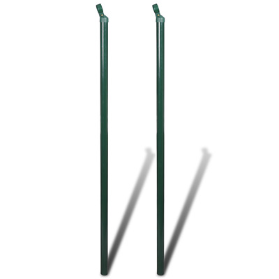 S# New 2pc Garden Mesh Fence Strive Post 2m Iron Outdoor Wire Fencing Heavy Duty