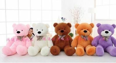 180CM Huge cute plush toy bear soft 100% cotton toy gift multiple colors