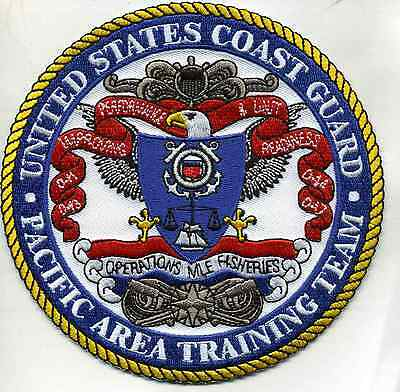 "USCG Coast Guard Patch - Pacific Area Training Team (5"" round) (fire)"