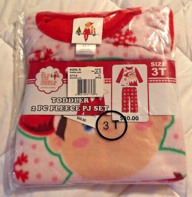 NWT Elf on the Shelf Pajamas Size 3T Great For Your Little Girl