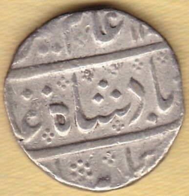 French India Silver 1 Rupee King Alamgir #t8