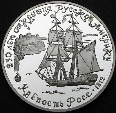 RUSSIA (Soviet Union) 3 Roubles 1991 Proof - Silver - Fort Ross - 1143 ¤