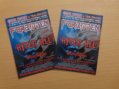 Forbidden, After All & Elimination London Camden Underworld Show 2009 Flyer x 2