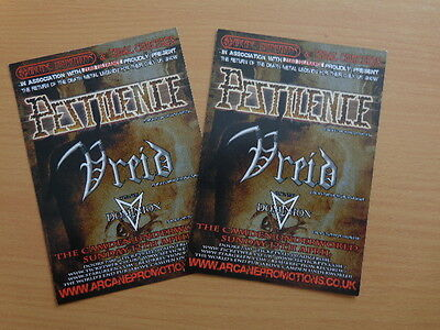 Pestilence Vreid Dominion - London Camden Underworld Show 2009 Flyer x 2