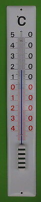 Emaille Thermometer Emaillethermometer 60 cm  Email absolut wetterfest