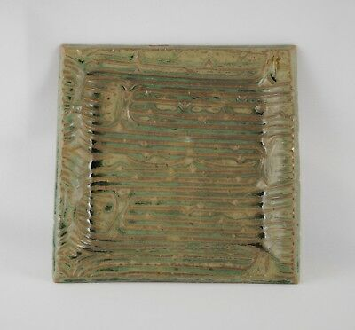 Potsalot square art pottery tray, New Orleans, 2009, excellent condition