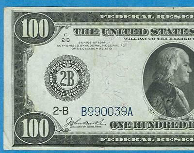 $100. 1914 Rare  Fr.1088  New York District  Federal Reserve Note  Beautiful