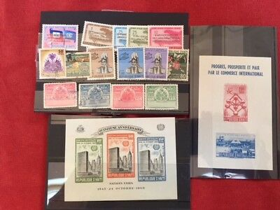 Collection of stamps from Haiti including 2 miniature sheets