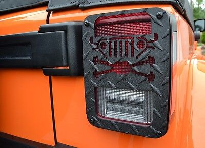 Jeep Tweaks Cross Axle Tail Light Guards for Jeep Wrangler JK