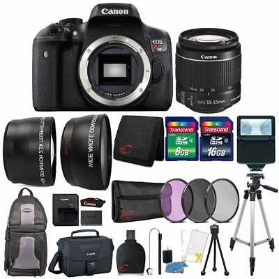 Canon EOS Rebel T6 18MP DSLR Camera w/ 18-55mm Lens , Canon Case and Kit