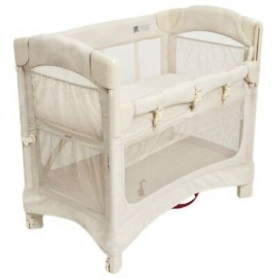 Arm's Reach Concepts Mini Ezee 2-in-1 Bedside Bassinet Natural Sleeper Baby Arms
