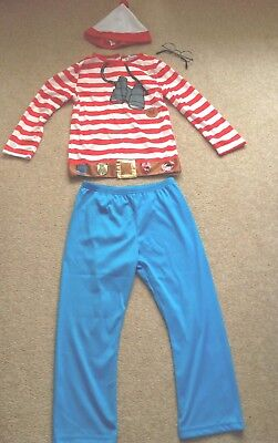 Wheres Wally age 7-8 Kids Boys Childs Girls DressingUp Costumes Used fancy dress