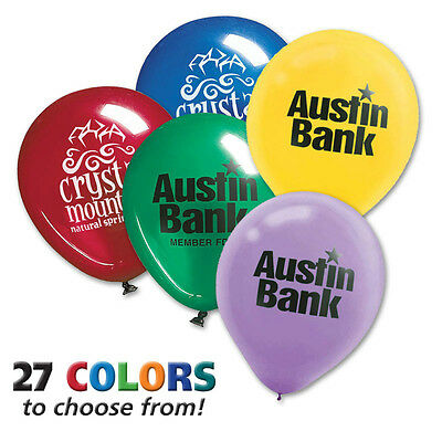ROUND BALLOONS - 500 quantity - Custom Printed with Your Logo