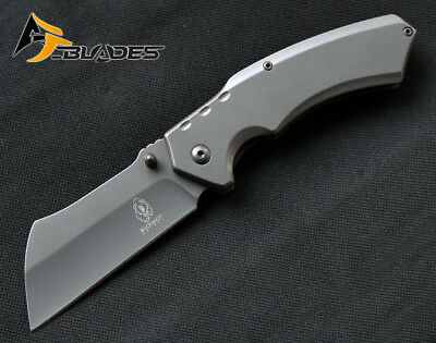 "8"" BUCKSHOT TITANIUM GREY Cleaver Razor Blade Spring Assisted P/Knife  PBK205GY"