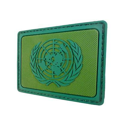 UN United Nations Flag Olive Drab OD Green PVC emblema touch fastener patch