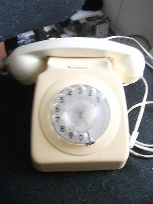 GPO /BT model 746 telephone IVORY.CONVERTED TO PLUG IN NEW SYSTEM. G.W.O.